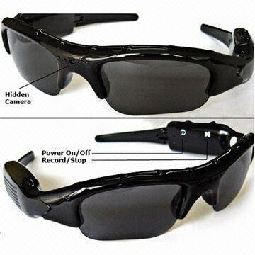 Voyeur Spy Sunglasses With DVR Camera Recording Function