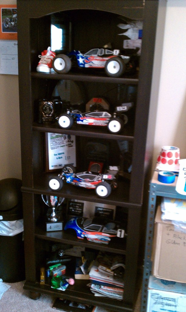 Jared Tebo's Team Orion / Kyosho / Lunsford Display Shelf