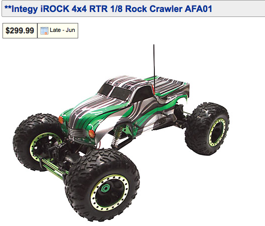 Integy iRock 4x4 RTR 1/8 Rock Crawler AFA01
